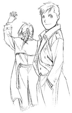 Ed and Al - image from FMA...and of course, who's taller? Al. That's right. Even Al's real body is taller. XD