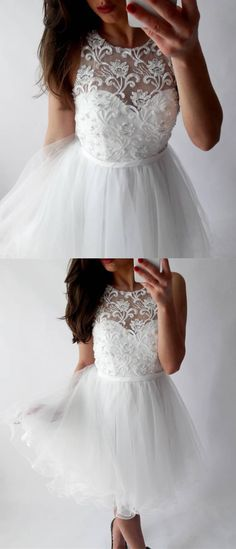 white homecoming dresses,tulle homecoming dresses,lace homecoming dresses,homecoming dresses short
