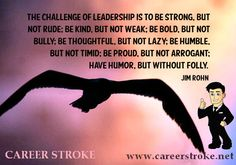 The #Challenge of #Leadership !  —@Career Stroke