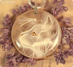 """Кулон с росписью """"Зефирные мечты"""" (кот, лаковая миниатюра) - кулон с камнем"""