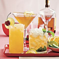 Triple Crown Cocktails    The Derby isn't the only leg of the Triple Crown with a signature drink.(Kentucky Derby, Preakness Stakes, Belmont Stakes) Watch the horses run with a cocktail tailored for each event. You'll have an instant party as synonymous with Derby Day as distinctive hats.