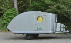 Torpedo Teardrop « This Old Camper Teardrop Trailer, Teardrop Campers, Old Campers, Camper Caravan, Basic Shapes, Camping, Travel Trailers, Box, Vehicles