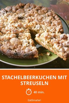 Stachelbeerkuchen mit Streuseln Gooseberry cake with sprinkles – smarter – Time: 40 min. Gooseberry Pie, Rice Recipes For Dinner, Rice Crispy Treats, Eat Smarter, Savoury Dishes, Baked Chicken, Sprinkles, Food And Drink, Stuffed Peppers