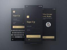 UI design by . Ui Kit, Make Design, Web Design, Sign Up Page, Ios Ui, Mobile App Ui, Design System, Silver Spring, Blog Tips