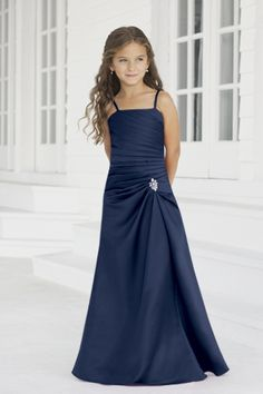 Junior Bridesmaid Dresses, Flower Girl, Special Occasion Dresses by Alexia Designs in Fresh Blue