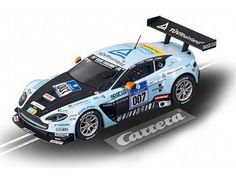 The Carrera Aston Martin V12 Vantage GT3 No. 007 Slot Car, is a superbly detailed Carrera Evolution race car for use on any 1/32 analogue slot car layout.