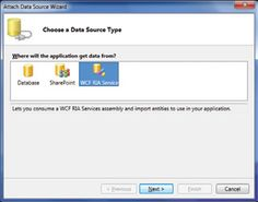 Attaching to a WCF RIA Service lets you pull in data from a web source.
