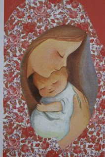 Sretan Božić I Nova Godina puna Blagoslova! Blessed Mother Mary, Blessed Virgin Mary, Catholic Art, Religious Art, Mother And Child Painting, Mother Art, Images Vintage, Mama Mary, Mary And Jesus