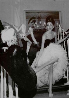 Dior Haute Couture Spring/Summer 1995Models: Elle MacPherson &  Carla Bruni Photographer: Roxanne Lowit