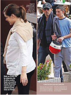 Charlotte, Gad and his son Noé in Monaco  Charlotte and Gad, their family grows. The couple, soon to be parents, took a stroll around Monaco with his son, Noé (13), with whom Charlotte seems to get along fine.