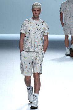 David Delfín Spring Summer 2013 Mercedez Benz Fashion Week Madrid #menswear #menfashion #fashionweek #malemodel #model #mbfwm #runway
