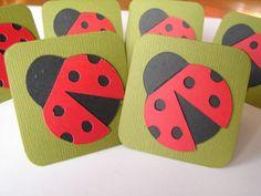 Ladybug Mini Note Cards  2 X 2 Die Cut Note Cards by terimckeanlee, $3.50