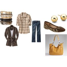 LOVE!  Plaid, Leopard Print, Mustard.... :)  Most pieces are from Old Navy!!