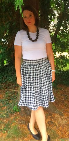 Heather's Clemence skirt - sewing pattern in Love at First Stitch