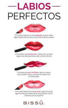 Obtén unos labios perfectos con ayuda de esta guía.