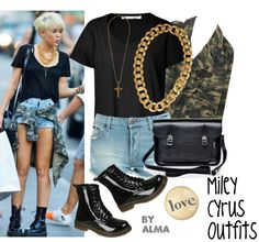 """Miley Cyrus Outfits"" by almagotswag ❤ liked on Polyvore"