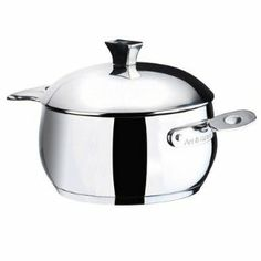 """Chaudron Stock Pot with Lid Size: 7.9"""" H x 20"""" W x 3"""" D by Art & Cuisine. $62.99. 8082 - Art & Cuisine - Stainless steel cookware features an aluminum core bottom for even heating and stainless steel exterior surfaces. Domes tempered glass covers make it easy to monitor food while they cook, and countereed, cast stainless steel handles are comfortable to use. Over safe up to 400 degrees Farenheit. Delicious results, good looking, easy clean up and durability ar..."""