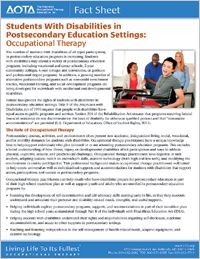 AOTA: How Occupational Therapy Can Help Students with Disabilities in Postsecondary Education What Is Occupational Therapy, Occupational Therapy Assistant, School Ot, Psychology Major, Pediatric Ot, Gross Motor Activities, Fight The Good Fight, Love My Job, Disability
