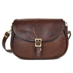 This mini-version of the Legacy shoulder bag is modeled after a classic saddle bag, but with all the fine details of a quality leather handbag. In American Heritage brown leather, this shoulder bag is so adorably sized it is irresistible! Each bag is carefully hand-buffed and antiqued. The result: A unique and finely aged keepsake. Personalize this mini legacy shoulder bag with complimentary embossed monogram.  Shop the entire JW Hulme collection at Pumpz & Co, The Galleria, Edina…