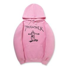 THRASHER-Men-Hoodie-Fleece-Pullover-Tops-Sweaters-Hip-hop-Skateboard-Sweatshirts