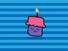 #Cupcake with candle #123rf
