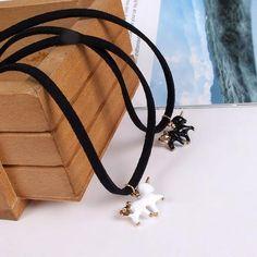 Unicorn Pegasus Horse Pendant  Short Chain Necklace