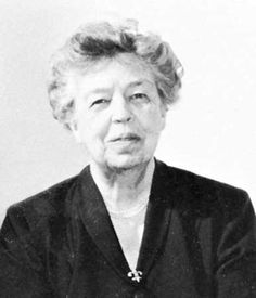Eleanor Roosevelt.  1884-1962.  She did so much for our country by being her husband's eyes and ears when he served as US President from 1933 -1945.  She was an author and speaker and after her husband's death a delegate to the United nations.  She served as Chairman on the Commission for Human Rights for years.