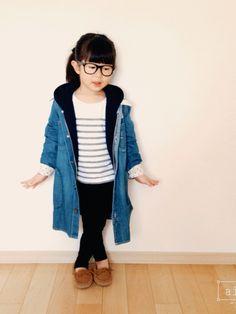 yunohanaさんの「【Lee×CIAOPANIC TYPY】KIDS リー別注デニムワンピース(Lee)」を使ったコーディネート