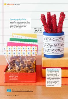 Back to School – Our Bake Sale Ideas for Parents Magazine « SWEET DESIGNS – AMY ATLAS EVENTS