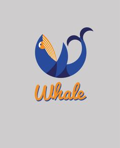 Study on geometry in logo design. I wanted to design a logo which incorporated a letter and a figure… so it became the 'Whale' logo;) Watch the whale forms the 'W'. Typography Letters, Typography Logo, Lettering, Logo Inspiration, Daily Inspiration, Logos, Whale Logo, Whale Art, Logo Design