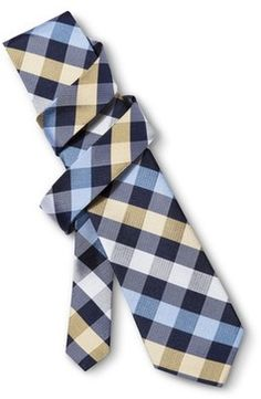 Something that I could definitely wear. Price . It's a steal. Merona® Men's Yellow Plaid Tie - 50% off, now $10.0 @ #Target  #Merona