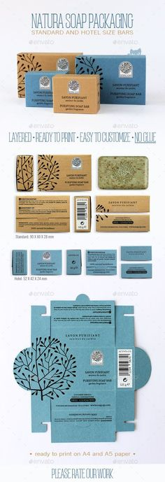 Natura Soap Packaging Template Vector AI. Download here: http://graphicriver.net/item/natura-soap-packaging/11670812?ref=ksioks