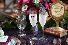 Wedding favor ideas from the Big Fake Wedding LA, Photography by You & Me Photography // Custom etching by Let's Tie the Knot on Etsy, …