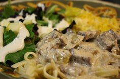 The Ranch Kitchen: The Ranch Kitchen's Beef Stroganoff is full of lean beef that is as healthy as it is good!