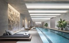 Gisele Bündchen and Tom Bradys Apartment Might Be Even More Beautiful Than They. Gisele Bündchen a Luxury Swimming Pools, Luxury Pools, Dream Pools, Swimming Pool Designs, Indoor Pools, Lap Pools, Swiming Pool, New York Homes, Pool Landscaping