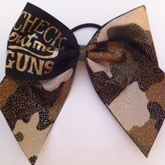 This is so SYD! 3in Camo Cheer Bow with Check out my GUNS by BowsByTeri on Etsy, $12.00
