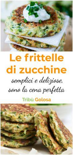 Cena Light, Vegetarian Recipes, Cooking Recipes, Antipasto, No Bake Cake, Finger Foods, Italian Recipes, Zucchini, Appetizers