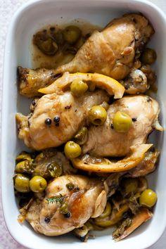 Recetas de Mon Pollo con olivas, alcaparras y limón