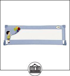 Asalvo 11510 - Barrera de cama 150 cm para bebés, diseño globos, color celeste  ✿ Seguridad para tu bebé - (Protege a tus hijos) ✿ ▬► Ver oferta: http://comprar.io/goto/B018SSJ78G