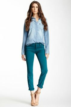 Lily Skinny Straight Jean by Level 99 I only like the jeans (fit,cut,color)
