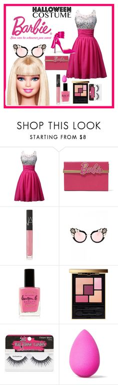 """""""barbie"""" by katherinedanilova ❤ liked on Polyvore featuring Charlotte Olympia, NARS Cosmetics, Lauren B. Beauty, Yves Saint Laurent, beautyblender and Christian Louboutin"""