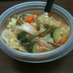 Weight Watchers 0 Point Garden Vegetable Soup Recipe - ZipList