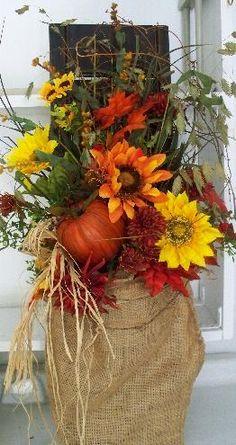 Fall shutter with burlap bag