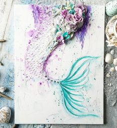 4. Watercolor Mermaid Tail by @staceyyoungdesigns