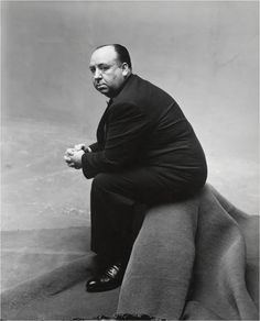 Alfred Hitchcock by Irving Penn, via Retro Vintage Photography.