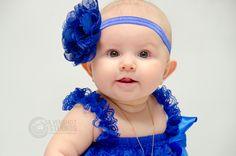 Baby Girl Blue Dress Frills Lace Flower