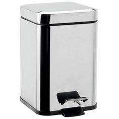WS Bath Collections Garbage Cans, Trash Cans & Recycle Bin Hotellerie Aluminum Pedal Waste Basket Bathroom Baskets, Garbage Can, Recycling Bins, Polished Chrome, Kitchen Appliances, Collections, Italy, Products, Diy Kitchen Appliances