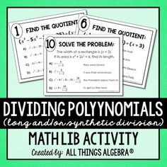 Differentiated polynomial long division matching game 3 levels dividing polynomials long division andor synthetic division math lib fandeluxe Image collections