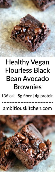 Delicious fudgy and healthy brownies made with black beans and avocados. Sounds…