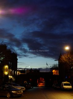 A wintery night out on the town in St Andrews, Fife. Photo by Alice Herbison, student photographer.